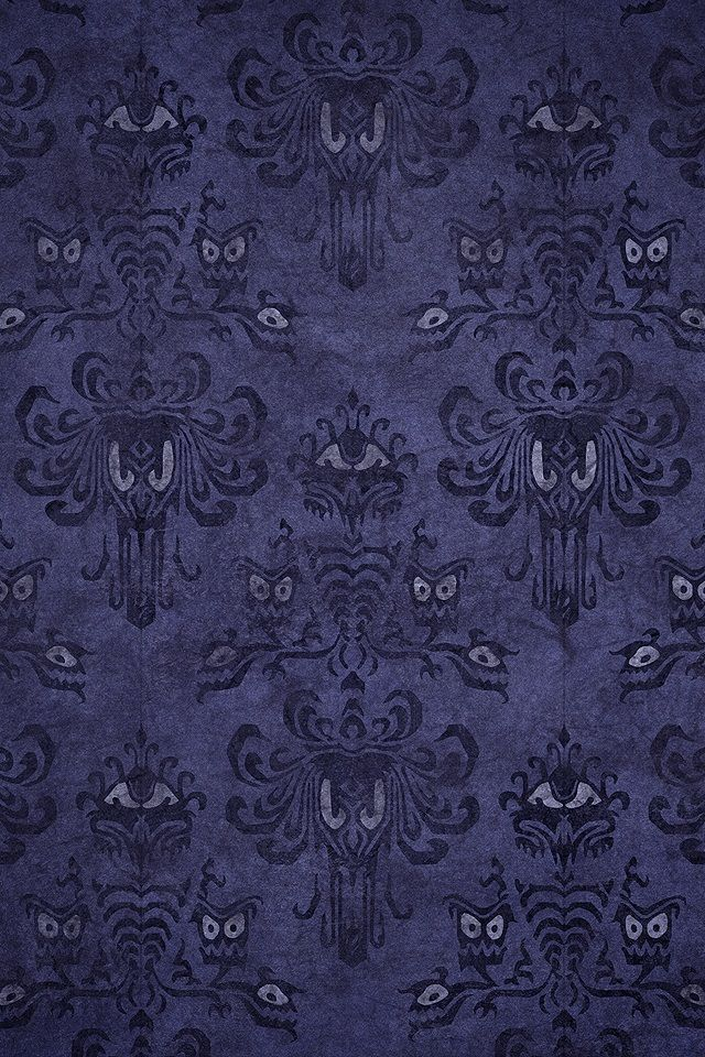 The Haunted Mansion Wallpaper for my Disney room! Yes, I