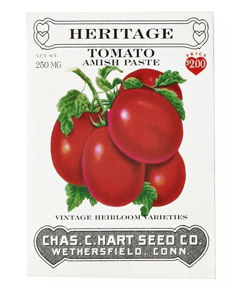 Family-owned since 1892, Chas. C. Hart Seed Co. offers 43 varieties of heritage vegetables and flowers.