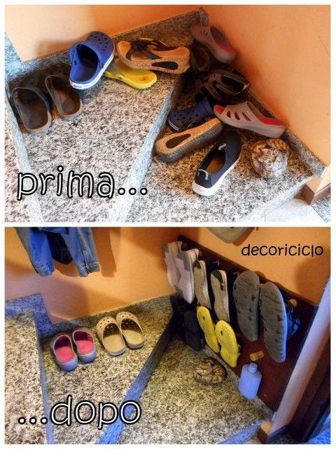 decoriciclo: Appendi-scarpe da parete, con i tappi di sughero