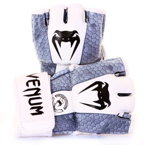 """Venum """"Amazonia Black"""" MMA Fight Gloves - Skintex Leather (S) by Venum. $64.90. The MMA Venum Amazonia Gloves are hand-Made in Thailand. As a MMA gear reference, Venum could not go wrong on this product. The main aim of the infamous Snake logo brand is to offer comfort and ergonomics as well as a long-lasting lifetime to the Impact Gloves. With no flourish and no gimmicks, Venum signs a top notch product. The Snake's high quality policy puts these gloves on the highest step of th..."""