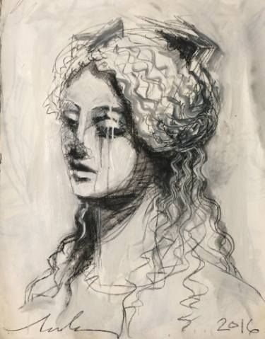 """Saatchi Art Artist melora walters; Drawing, """"The Ancients Turn Away and Weep - III"""" #art"""
