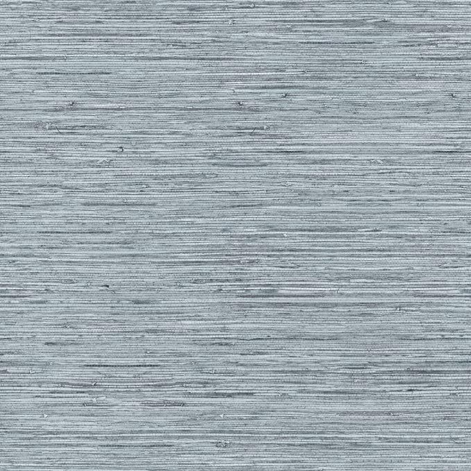 RoomMates RMK11561WP Blue & Grey Grasscloth Peel and Stick