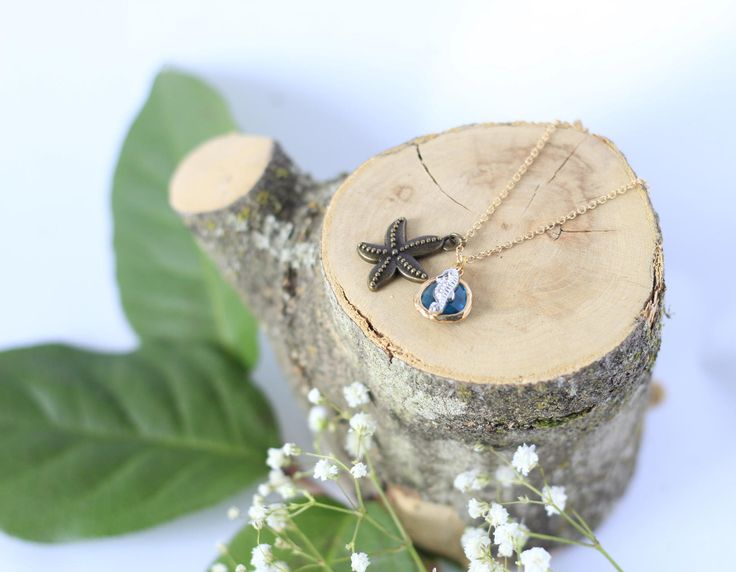 Seahorse Charm Necklace by thisandthatsparkle on Etsy