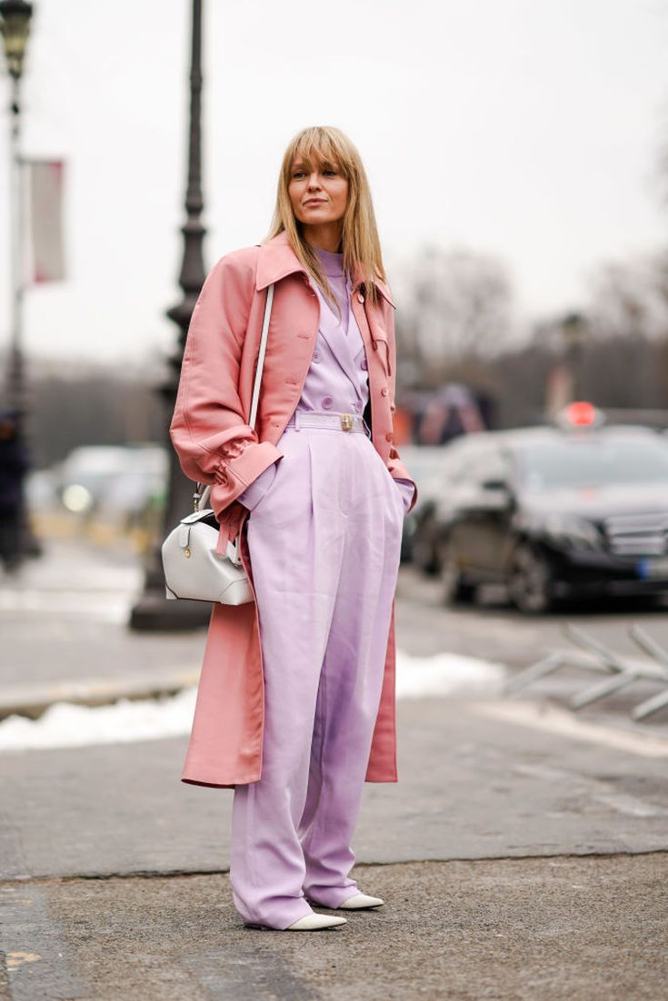 bf9700386a6 12 Pretty Pastel Outfits You Can Wear Now to Look Chic  Pink on Purple  Outfit