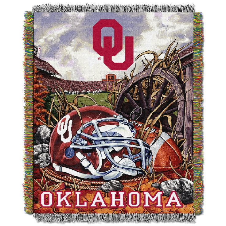 "Oklahoma College """"Home Field Advantage"""" 48x60 Tapestry Throw"