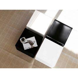 F2 italienischer Lederhocker Cube