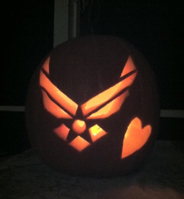 air force wife pumpkin-.... I think any of the military branches or all of them would be a great idea for a pumpkin at Halloween.