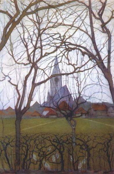 "Piet Mondriaan  Dutch  1872 - 1944  ""Church"""