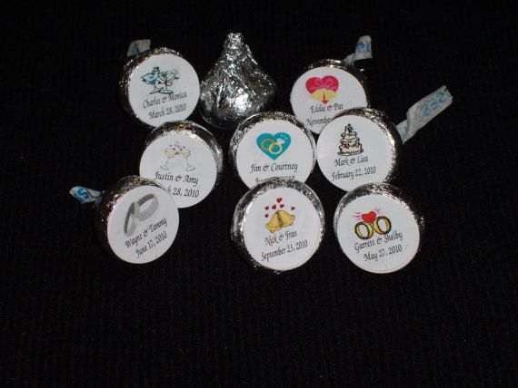 108 Kiss Candy Wrappers Personalized  by memorylanebargains, $6.25