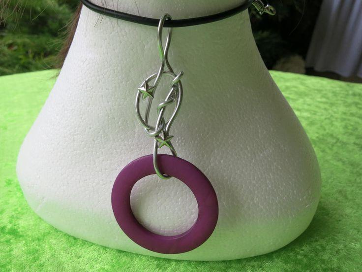 Halskette (Kautschuk) Circolo violetto von der woll-loewe auf DaWanda.com