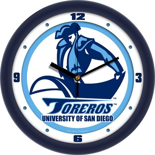 Mens San Diego Toreros - Traditional Wall Clock