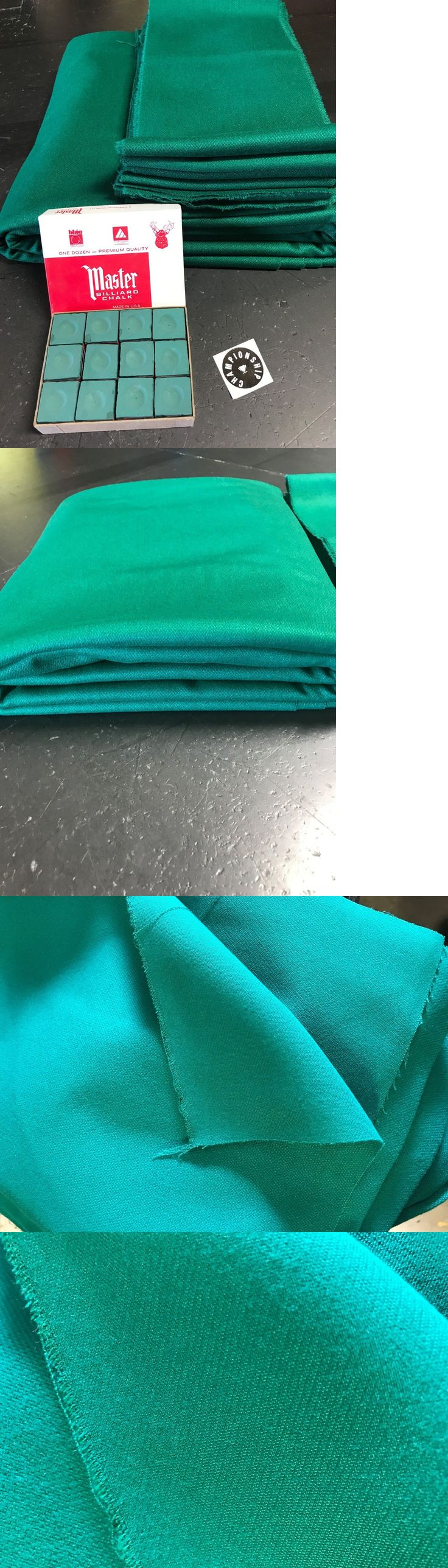 Tables 21213: Worsted Wool Green Pool Table Cloth For 9Ft 8Ft And 7Ft Tables (Fasted Cloth ) -> BUY IT NOW ONLY: $85 on eBay!