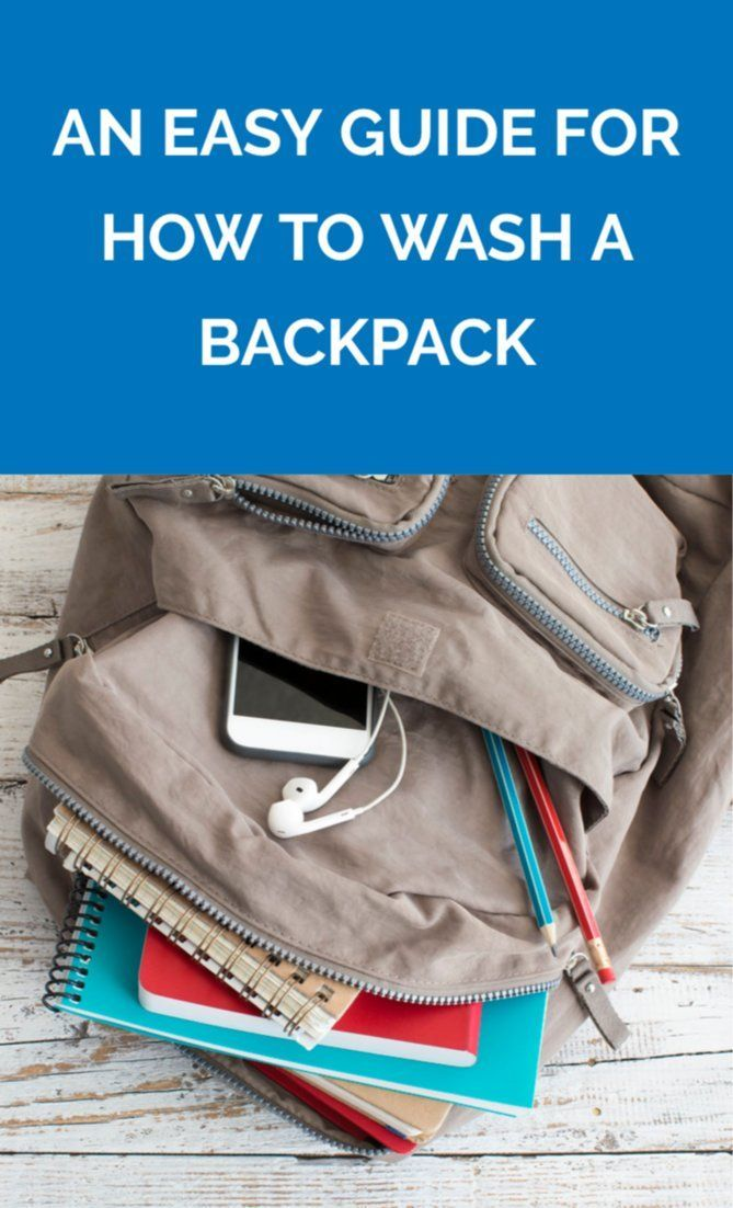552b37db5f30 An Easy Guide for How to Wash a Backpack
