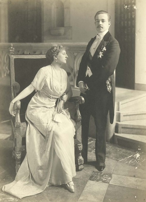 King Manuel II of Portugal and consort Augusta Viktoria (nee Pss of Hohenzollern-Sigmaringen)