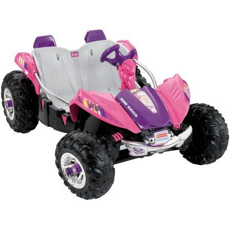 Fisher Price Power Wheels Barbie Dune Racer Battery-Operated Ride-On, Pink