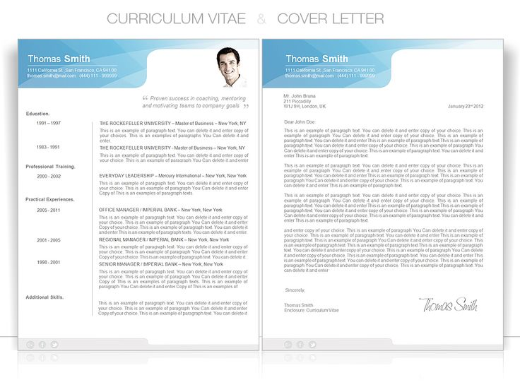 Best Cv Word Templates  Modern Images On   Modern