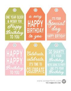 23 best tags images on pinterest gift tags free printable and free printable birthday tags for gifts and goodies negle Choice Image