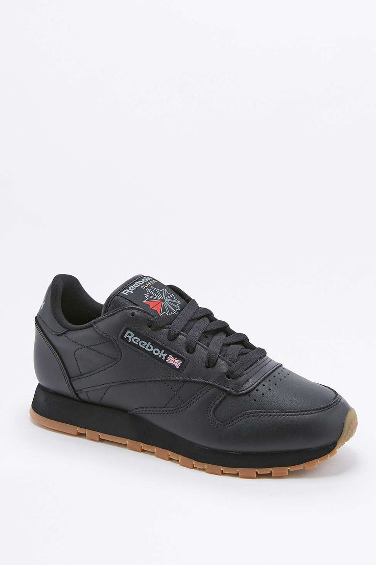 Reebok Classic Black Leather Gumsole Trainers