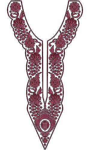 Wrap Work Cotton Blouse Gypsy Embroidery Design