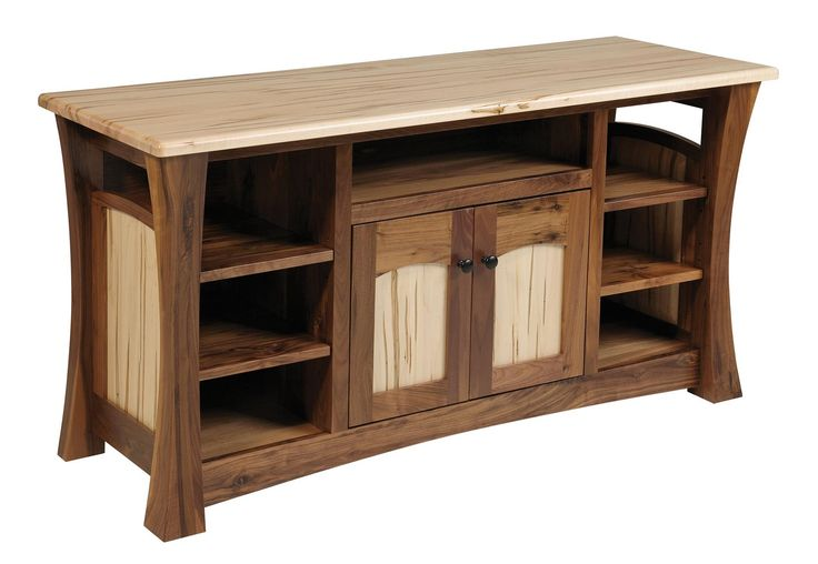 Amish Shaker Gateway TV Stand with 2 Doors The Amish Shaker Gateway TV Stand is handcrafted with premium quality solid woods. Built by Amish craftsmen, this TV stand will outlast the rest. Choose hardware and wood type to create your own look.