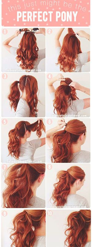 Outstanding 1000 Ideas About Formal Ponytail On Pinterest Wavy Ponytail Hairstyle Inspiration Daily Dogsangcom