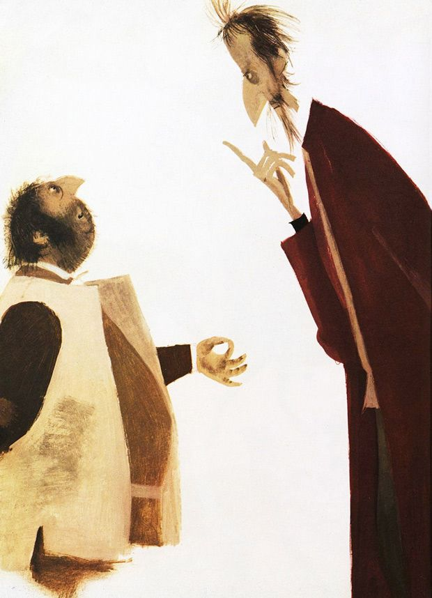 Stunning Vintage Illustrations of Don Quixote by Spanish Graphic Design Pioneer Roc Riera Rojas | Brain Pickings