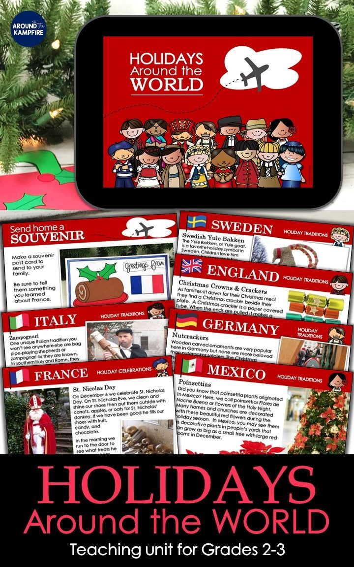 Holidays Around The World Unit Beautifully Designed Social Studies Teaching Unit With Powerpoint Lesson Plans Activities And Crafts For Kids