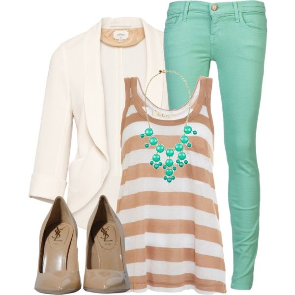 """""""Nude & Mint"""" by qtpiekelso on Polyvore"""