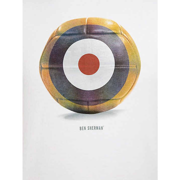 Buy Ben Sherman Target Football T-Shirt, Bright White, S Online at johnlewis.com