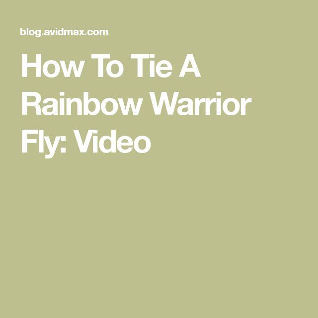 Rainbow Warrior Midge: How To Tie A Rainbow Warrior Fly: Video