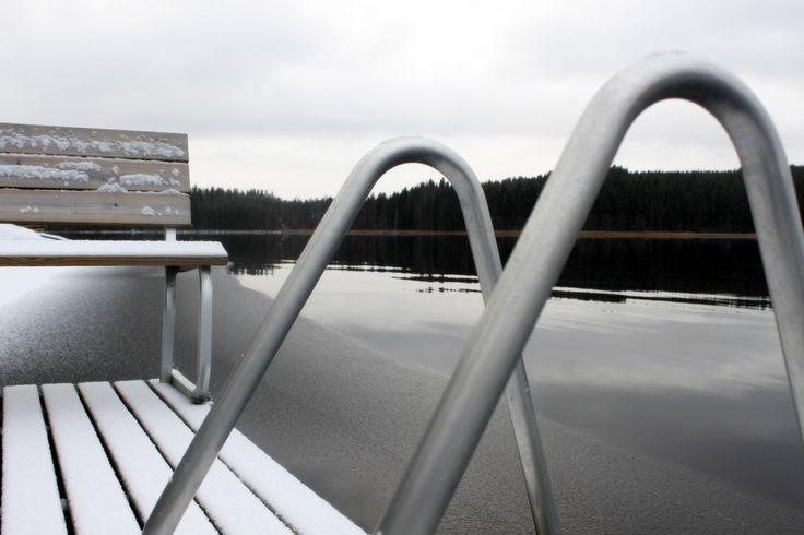 Winter pier, Virrat
