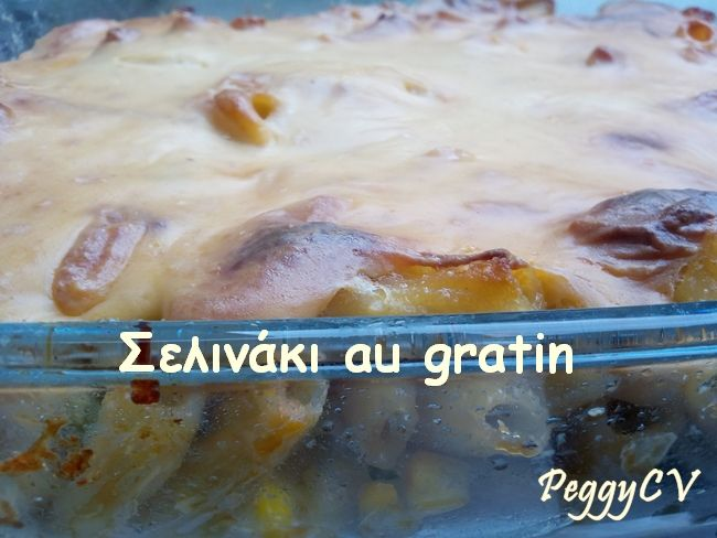 Gratinated pasta with cheese sauce, by Peggy.
