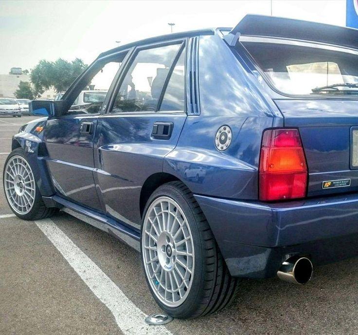 "Lancia Delta HF Integrale blue york 18"" wheels"