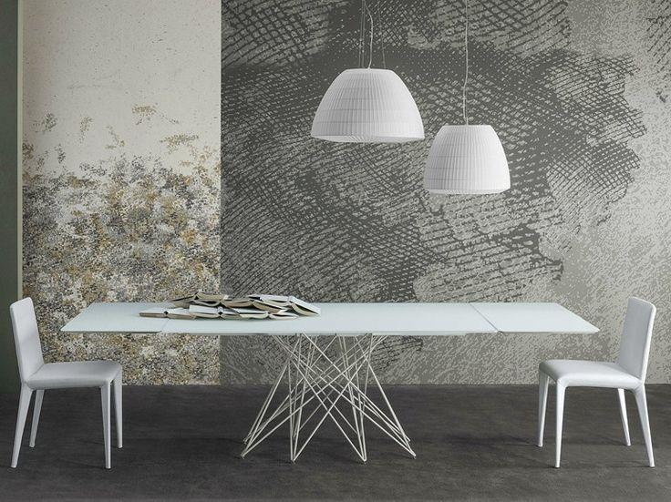 Tavolo allungabile in vetro acidato octa by bonaldo for Design thinking tisch