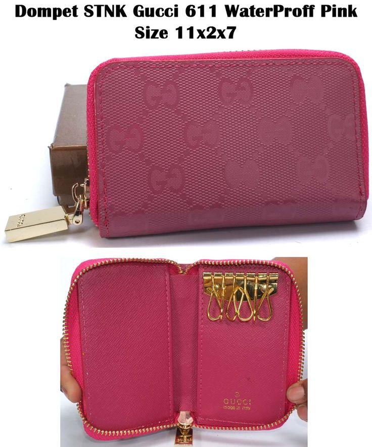 Dompet STNK Gucci 611 WaterProff Pink Size 11x2x7.jpg