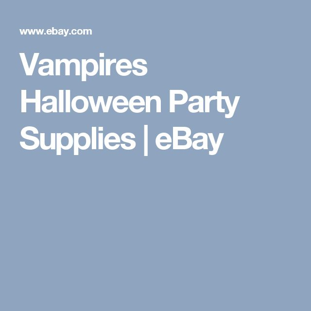 Vampires Halloween Party Supplies | eBay