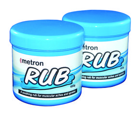 Metron Rub: A natural smoothing rub for muscular aches and sprains