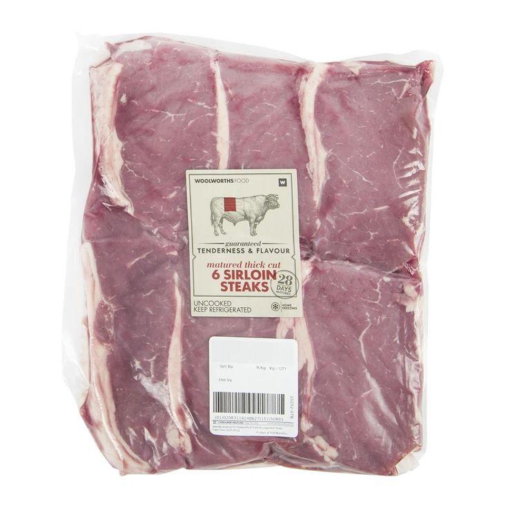 Beef Thick Cut Sirloin Steaks Avg 1.7Kg