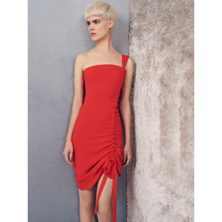 "Alexis Clothing ""Staz One Shoulder Short Dress"" Red 