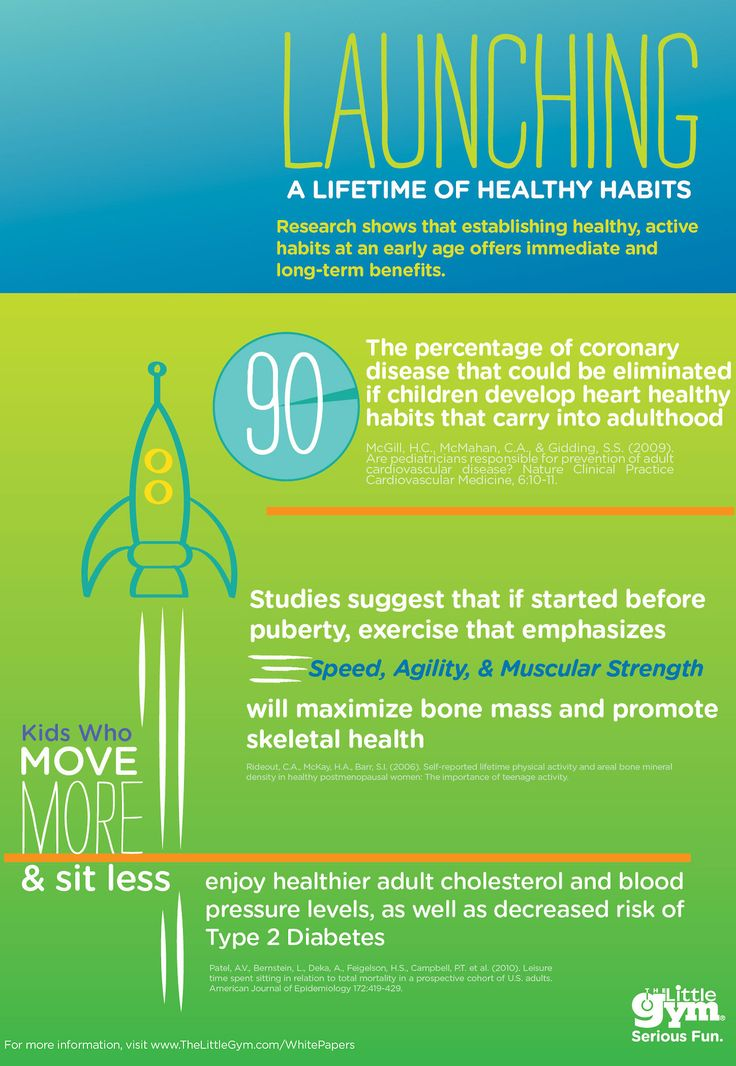 Research shows that establishing healthy, active habits at an early age offers immediate and long-term benefits!