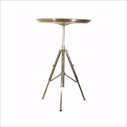 Jansen Tripod Table in Antique Silver Emac & Lawton | Wayfair