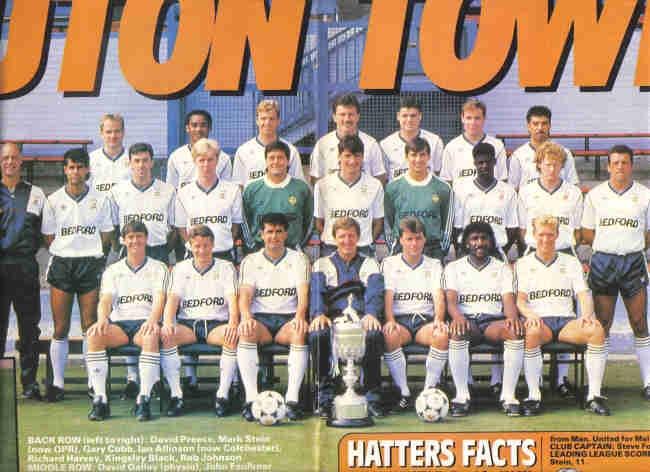 Luton Town 1988-89 team shoot.
