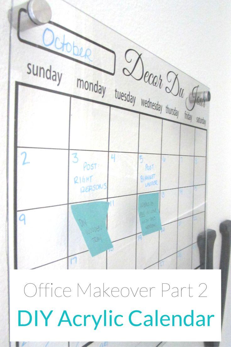 Diy Office Calendar : Best office calendar ideas on pinterest dry erase