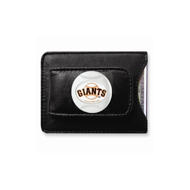 MLB Giants Leather Money Clip