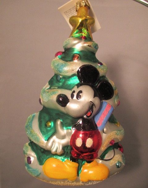 1997 Mickey and Minnie Christmas Christopher Radko Ornament on Etsy, $24.99