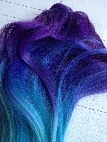 Aqua, Blue, Purple.