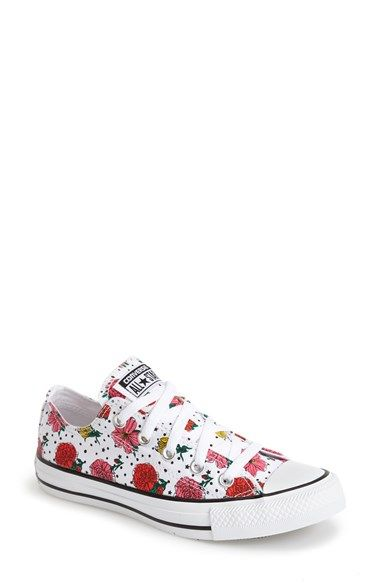Converse Chuck Taylor® All Star® Floral Polka Dot Low Top Sneaker (Women)