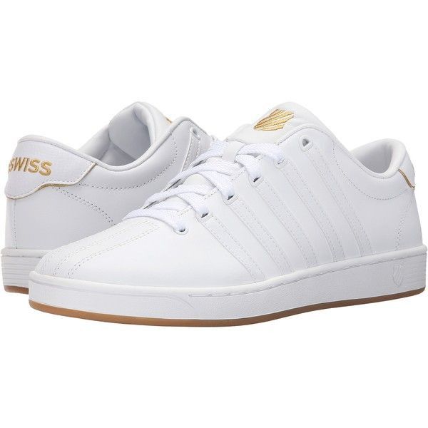 K-Swiss Court Pro II 50th (50th/White/Gold Leather) Men's Tennis Shoes ($45) ❤…