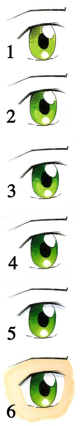 coloring eyes - copic - bjl
