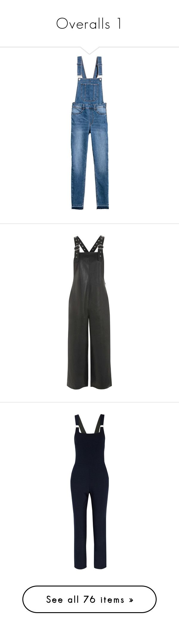 """""""Overalls 1"""" by cupkatyk ❤ liked on Polyvore featuring jumpsuits, overalls, denim bib overalls, denim jumpsuits, zip jumpsuit, overalls jumpsuit, blue denim overalls, jumpsuit, dresses and pants"""